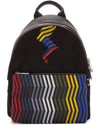 Fendi Black Zig Zag Bolt Backpack for men