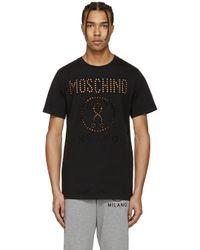 Moschino | Black Cut-out Logo T-shirt for Men | Lyst