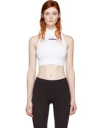 Adidas By Stella McCartney | White Climalite Crop Top | Lyst