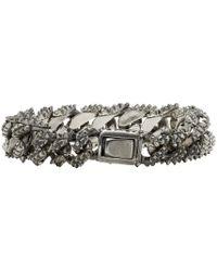 Emanuele Bicocchi - Metallic Silver Worked Chain Bracelet - Lyst
