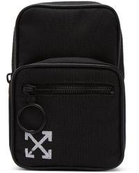 Off-White c/o Virgil Abloh - Black Mini Brushed Arrows Crossbody Bag - Lyst