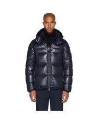 Moncler - Blue Navy Down Harry Jacket for Men - Lyst