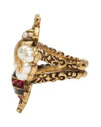 Gucci - Metallic Gold Bee Ring - Lyst
