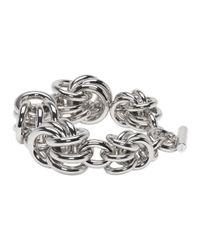 Alexander Wang - Metallic Silver Knot Bracelet - Lyst