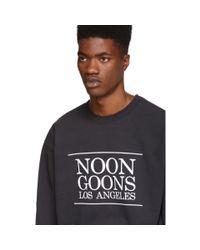 Noon Goons - Black Pull molletonne noir Los Angeles for Men - Lyst