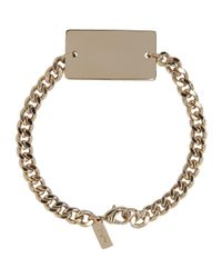 A.P.C. - Metallic Gold Lord Bracelet for Men - Lyst
