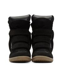 Isabel Marant - Black Beckett Wedge Sneakers - Lyst