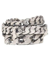 Emanuele Bicocchi - Metallic Silver Curb Chain Ring for Men - Lyst