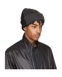 Fendi - Gray Grey And Black Bag Bugs Beanie for Men - Lyst