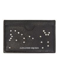 Alexander McQueen - Black Studded Card Holder - Lyst
