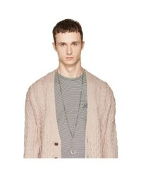 Alexander McQueen | Metallic Silver Oversized Safety Pin Necklace for Men | Lyst