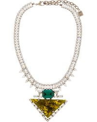 DANNIJO - Brown Chartreuse Resin & Crystal Elodie Necklace - Lyst