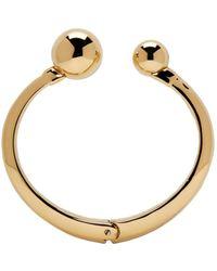 Chloé | Metallic Gold Oma Pearl Bracelet | Lyst