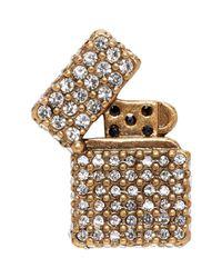 Marc Jacobs - Metallic Gold Strass Lighter Pin - Lyst