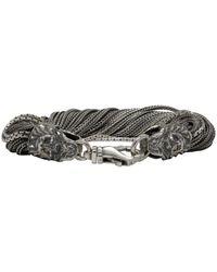 Emanuele Bicocchi - Metallic Silver Torsion Bracelet - Lyst