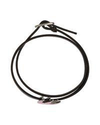 McQ Alexander McQueen - Black And Pink Swallow Mini Wrap Bracelet - Lyst