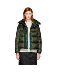 Sacai Multicolor Khaki Down Nylon Jacket