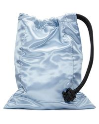 Ribeyron - Blue Oversized Pouch Bag - Lyst