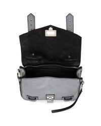 Proenza Schouler - Gray Grey Mini Zip Ps1and Satchel - Lyst