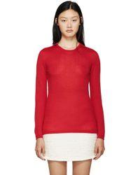 Giambattista Valli | Red Cashmere Sweater | Lyst
