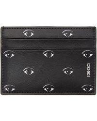 KENZO - Black Multi Eye Card Holder - Lyst