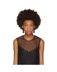 Simone Rocha - Black Perspex Three Tier Drop Earrings - Lyst
