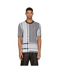 McQ Alexander McQueen - Black & White Knit Razor T-shirt for Men - Lyst