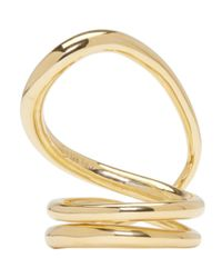 Charlotte Chesnais - Metallic Gold Round Trip Ring - Lyst
