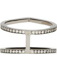 Repossi - Metallic Black Gold Pavé Diamond Double Antifer Ring - Lyst