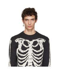 Alexander McQueen - Metallic Gold Single Skull Medallion Earring for Men - Lyst