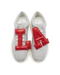 Joshua Sanders - Gray Grey La Letters Sneakers - Lyst