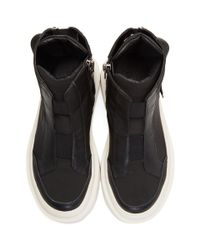 Dbyd - Black Back Strap High-top Sneakers for Men - Lyst