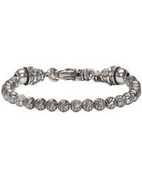 Emanuele Bicocchi - Metallic Silver Beaded Bracelet for Men - Lyst