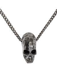 Emanuele Bicocchi | Metallic Silver Large Skull Pendant Necklace for Men | Lyst