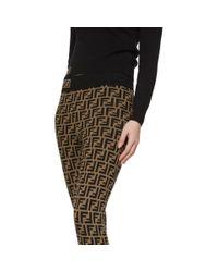 Legging brun et noir Forever Fendi en coloris Black