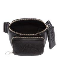 Kara - Black Pebbled Bum Bag - Lyst