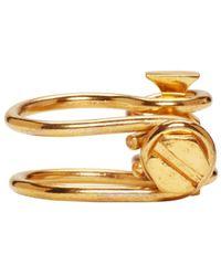 Ribeyron - Metallic Gold Screw Ring - Lyst