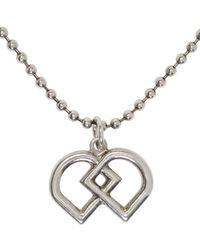 DSquared² | Metallic Silver Ball Chain Logo Necklace for Men | Lyst