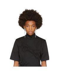 Simone Rocha - Black Transparent Perspex Drips Earrings - Lyst