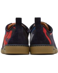 PS by Paul Smith - Blue Navy And Red Camo Miyata Sneakers - Lyst