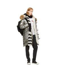 Moncler - Metallic Silver Down Inuit Jacket for Men - Lyst