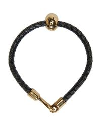 Alexander McQueen - Black Leather Skull Bracelet for Men - Lyst