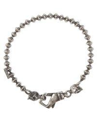 Emanuele Bicocchi - Metallic Silver Throttle Chain Skull Bracelet for Men - Lyst