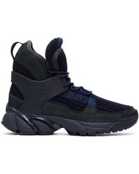 Undercover - Blue Navy Junya Watanabe Edition Knit High-top Sneakers - Lyst