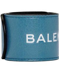 Balenciaga - Blue Cycle Logo Bracelet - Lyst