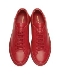 Common Projects - Red Original Achilles Low Sneakers - Lyst