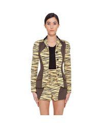 Proenza Schouler - Yellow Tiger Print Jacket - Lyst