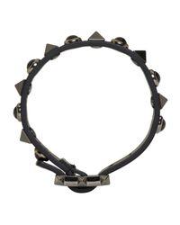 Valentino | Black Rockstud Bracelet for Men | Lyst