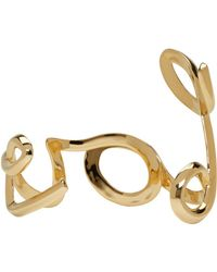 Chloé - Metallic Gold 'love' Cuff - Lyst