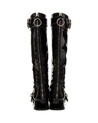 Miu Miu - Black Patent Knee-high Boots - Lyst